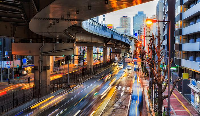 Fast paced city picture
